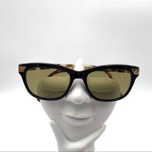 Jonathan Adler 500 Black/Brown Oval Sunglasses